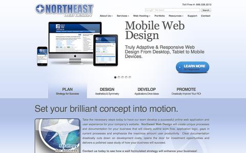 Screenshot of Home Page mycleanairconsultants.com - Responsive and Adaptive Mobile Web Design | Northeast Web Design - captured Oct. 2, 2014