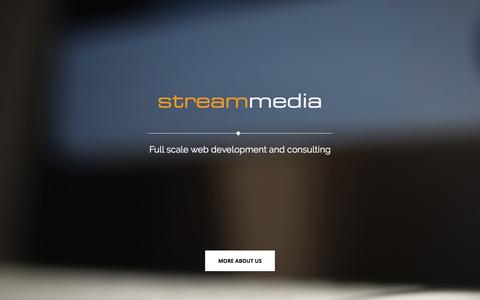 Screenshot of Home Page streammedia.org - StreamMedia - Web Design, Development and Consulting - StreamMedia - Web Design & Consulting - captured March 17, 2016