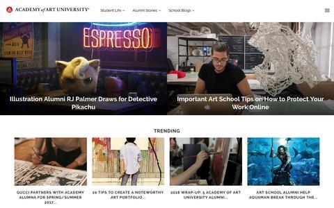 Screenshot of Blog academyart.edu - Academy of Art University | Art and Design Blog - captured Jan. 21, 2019