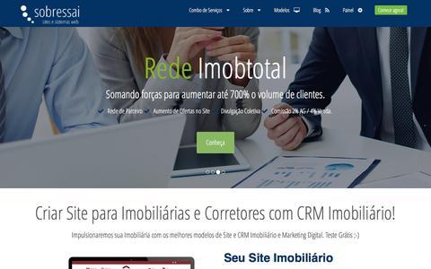 Screenshot of Home Page sobressai.com.br - Sobressai - Sites para imobiliárias ou Corretores de Imóveis com CRM Imobiliário - captured Dec. 21, 2016