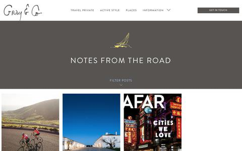 Screenshot of Blog grayandco.ca - Notes From the Road – Gray & Co. - captured Nov. 11, 2018