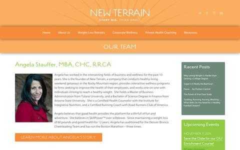Screenshot of Team Page new-terrain.com - Our Team | new terrain: colorado health & wellness - captured Oct. 26, 2014