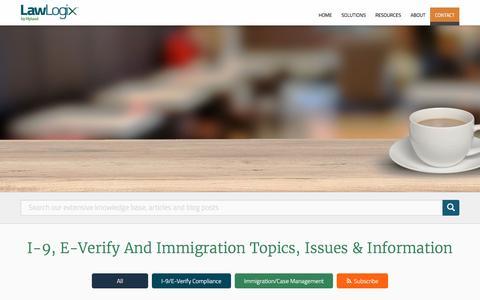 I-9, E-Verify, Immigration Topics and Information