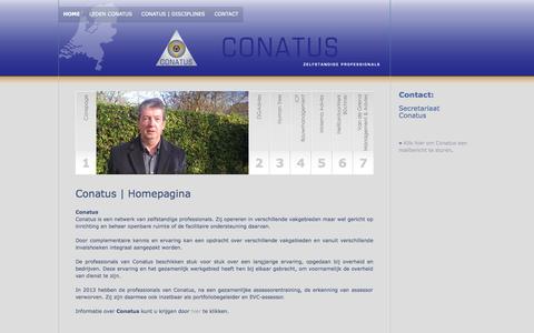 Screenshot of Home Page conatus.nl - Conatus | Home - captured Jan. 28, 2015