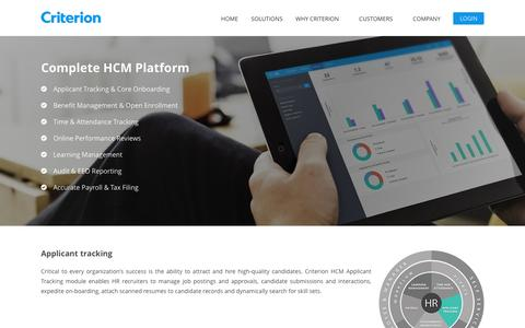 Applicant tracking | Criterion