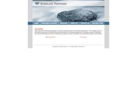 Screenshot of Case Studies Page riverlakepartners.com - Riverlake Partners - Case Studies - captured Sept. 30, 2014