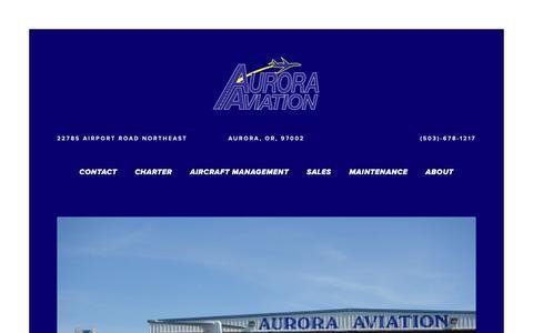Screenshot of Home Page auroraaviation.com - Aurora Aviation - captured Oct. 4, 2018