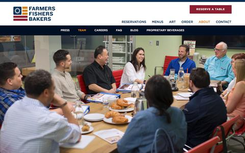 Screenshot of Team Page farmersfishersbakers.com - Our Chef, Bakers & Team | Farmers Fishers Bakers Restaurant - captured Oct. 13, 2017