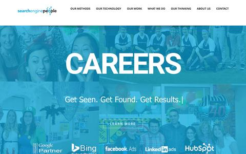 Screenshot of Jobs Page searchenginepeople.com - Careers - Search Engine People - captured March 13, 2017