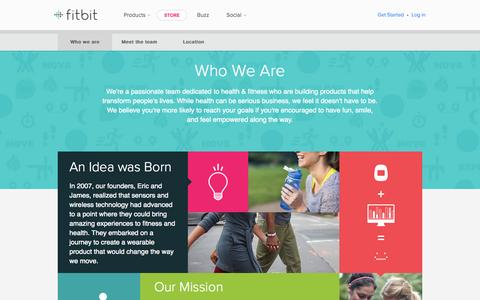 Screenshot of About Page fitbit.com - About the Company - captured Oct. 28, 2014