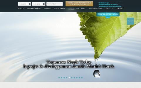 Screenshot of Login Page martinshotels.com - Martins Hotels - captured Aug. 9, 2016