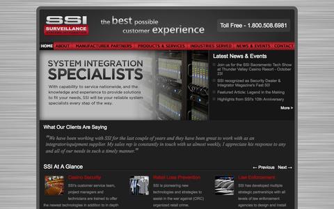 Screenshot of Home Page ssicctv.com - Surveillance Systems Integration   Home - captured Oct. 8, 2014