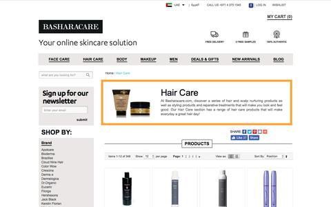 Haircare Products Dubai Abu Dhabi UAE