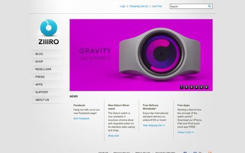 Screenshot of Home Page ziiiro.com - ZIIIRO | Designer wristwatches collection - captured Sept. 23, 2014