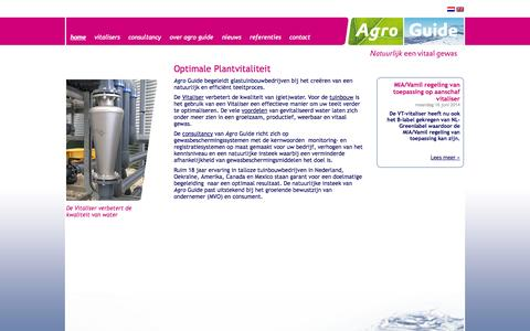 Screenshot of Home Page agroguide.nl - Agro Guide - Optimale Plantvitaliteit - captured Sept. 30, 2014