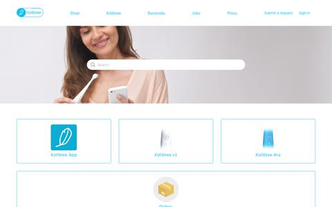 Screenshot of Support Page zendesk.com - Kolibree - captured July 20, 2019