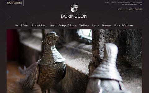 Screenshot of Contact Page boringdonhall.co.uk - Contact - captured Oct. 5, 2014