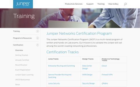 Juniper Networks Certification Program - JNCP - Juniper Networks