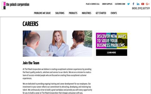 Screenshot of Jobs Page polackcorp.com - Careers | The Polack Corporation - captured Oct. 18, 2018