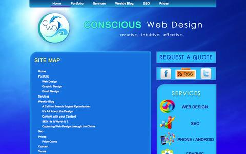 Screenshot of Site Map Page consciouswebdesign.com - Website Sitemap | Conscious Web Design - captured Sept. 26, 2014