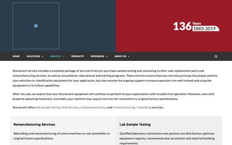 Screenshot of Services Page sturtevantinc.com - Services – Sturtevant Inc. - captured March 23, 2019