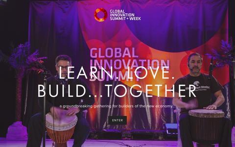 Screenshot of Home Page innosummit.com - Global Innovation Summit + Week - captured Jan. 29, 2016