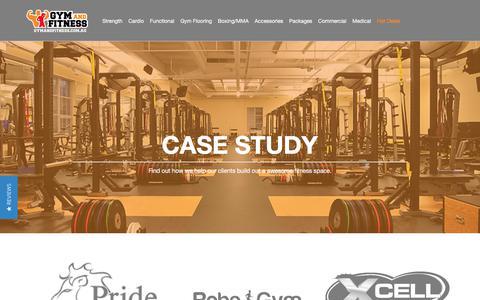Screenshot of Case Studies Page gymandfitness.com.au - Case Study - captured June 28, 2017