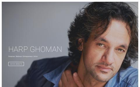 Screenshot of Home Page harpghoman.com - Harp Ghoman - captured April 12, 2016