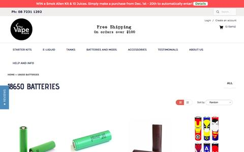 18650 Batteries | The Vape Store