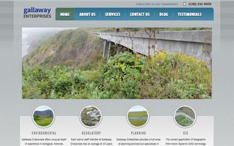 Screenshot of Home Page gallawayenterprises.com - Gallaway Enterprises   Environmental Consulting - captured Sept. 29, 2014