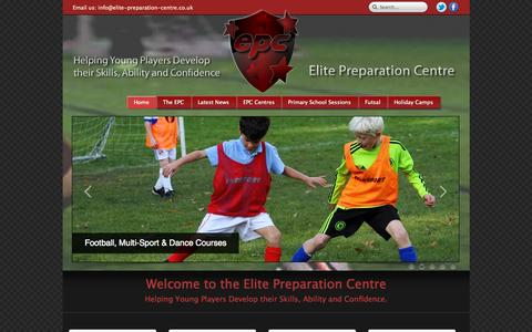 Screenshot of Home Page elite-preparation-centre.co.uk - Elite Preparation Centre - captured Sept. 23, 2015