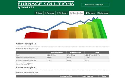 Screenshot of Case Studies Page furnace-solutions.com - Furnace Solutions - captured Nov. 7, 2016
