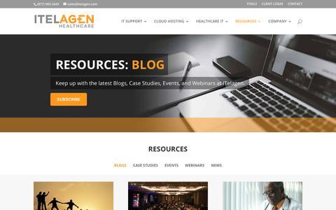 Screenshot of Blog Press Page itelagen.com - Blog | ITelagen® - captured Jan. 17, 2019