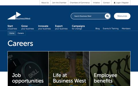 Screenshot of Jobs Page businesswest.co.uk - Careers | Business West - captured June 3, 2017