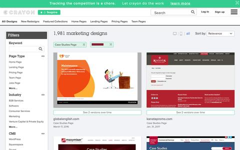 Screenshot of Case Studies Page crayon.co - Case Studies Pages | Website Inspiration and Examples | Crayon - captured Feb. 2, 2017