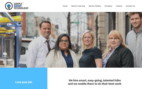 Screenshot of Jobs Page simplysmarttech.com - Simply Smart Technology   Careers - captured Oct. 20, 2018