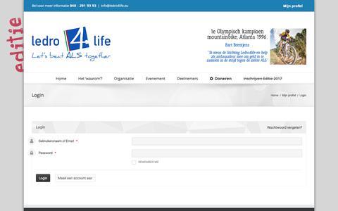 Screenshot of Login Page ledro4life.eu - Login – Ledro4life - captured May 16, 2017
