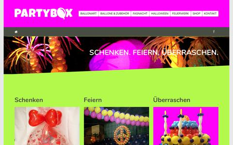 Screenshot of Home Page partybox.li - Home • PARTYBOX - captured June 2, 2018