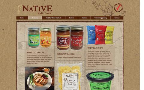 Screenshot of Products Page sfsalsa.com - nkfoods | Products - captured Nov. 29, 2016