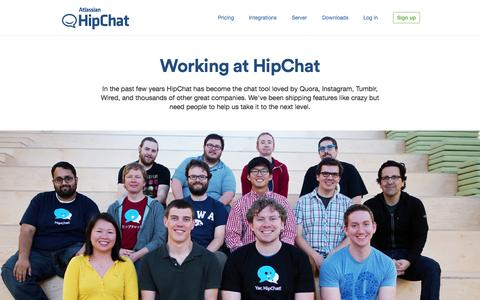 Screenshot of Jobs Page hipchat.com - HipChat - Jobs - captured June 16, 2015