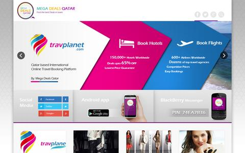 Screenshot of Home Page megadealsqatar.com - Mega Deals Qatar » Find the best deals in town! - captured Sept. 30, 2014