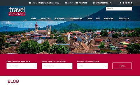 Screenshot of Blog traveldirectors.com.au - Blog | Travel Directors - captured July 1, 2018