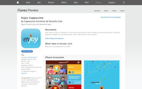 Screenshot of iOS App Page apple.com - Enjoy Cappuccino on the App Store on iTunes - captured Nov. 4, 2014