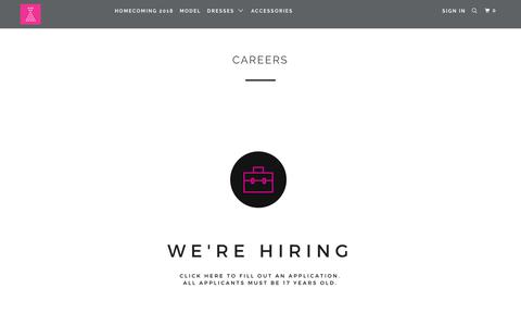 Screenshot of Jobs Page pinkslipboutique.com - Careers - Pink Slip Boutique - captured July 18, 2018
