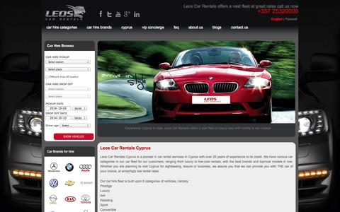 Screenshot of About Page leoscy.com - Leos Car Hire is a pioneer in car rental services in Cyprus - captured Oct. 1, 2014