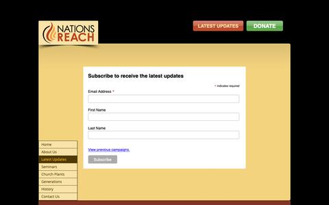 Screenshot of Signup Page nationsreach.com - nationsreach | Latest Updates - captured Nov. 7, 2018