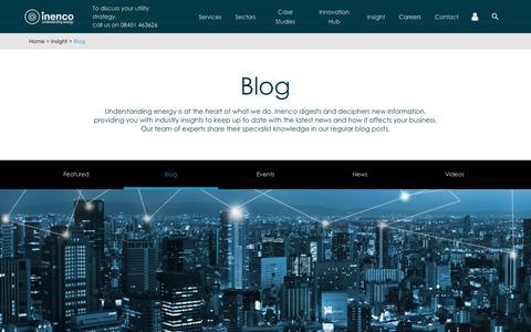 Screenshot of Blog inenco.com - Blog - Inenco - captured Oct. 6, 2017