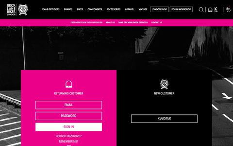 Screenshot of Login Page bricklanebikes.co.uk - Brick Lane Bikes: The Official Website. Sign In - captured Dec. 15, 2018