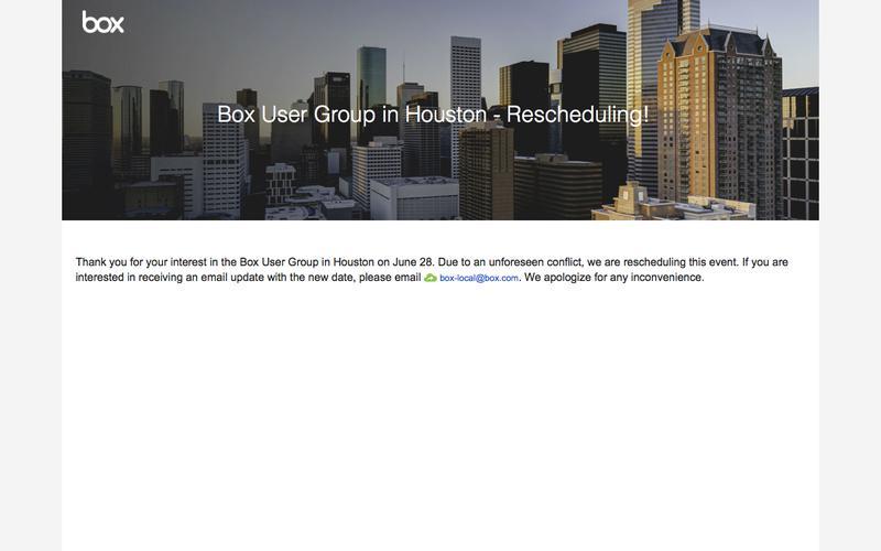 Box User Group in Houston