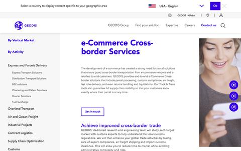 Screenshot of Services Page geodis.com - e-Commerce Cross-border Services | GEODIS - captured Feb. 20, 2020